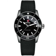 Rado Mens HyperChrome Captain Cook Automatic Black Fabric Strap Watch R32501156