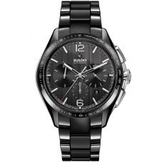 Rado Mens HyperChrome Automatic Chronograph Black Ceramic Bracelet Watch R32121152
