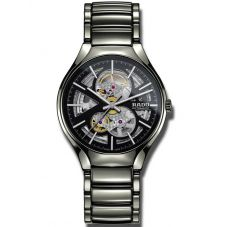 Rado Mens True Open Heart Automatic Grey Ceramic Bracelet Watch R27510152