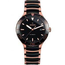 Rado Mens Centrix Automatic Black and Rose Ceramic Bracelet Watch R30001152