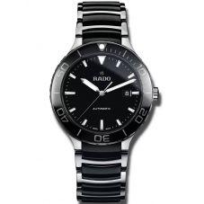 Rado Mens Centrix Automatic Black and Silver Ceramic Bracelet Watch R30002162