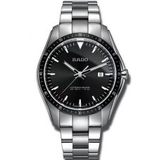 Rado Mens HyperChrome Quartz Black Dial Bracelet Watch R32502153