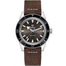 Rado Mens HyperChrome Captain Cook Automatic Brown Leather Strap Watch R32505305