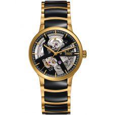 Rado Centrix Automatic Open Heart Two Tone Skeleton Dial Ceramic Bracelet Watch R30180162