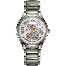 Rado True Automatic Open Heart Skeleton Dial Ceramic Bracelet Watch R27510102