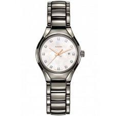 Rado Ladies True Diamonds Quartz Grey Ceramic Bracelet Watch R27060902 S