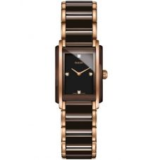 Rado Ladies Integral Diamonds Quartz Brown and Rose Ceramic Bracelet Watch R20201712