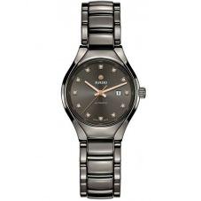 Rado Ladies True Diamonds Automatic Grey Ceramic Bracelet Watch R27243732