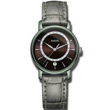 Rado Ladies DiaMaster Diamonds Quartz Grey Leather Strap Watch R14064735