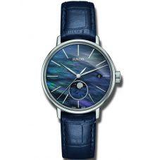 Rado Ladies Coupole Classic Moonphase Quartz Blue Leather Strap Watch R22883915