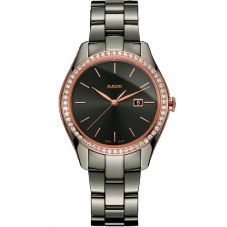 Rado Ladies HyperChrome Diamonds Quartz Grey Ceramic Bracelet Watch R32125102