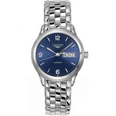 Longines Mens Flagship Blue Dial Bracelet Watch L47994966