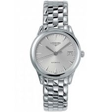 Longines Mens Flagship Silver Dial Bracelet Watch L47744726
