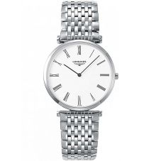 Longines Mens La Grande Classique White Dial Bracelet Watch L47554116