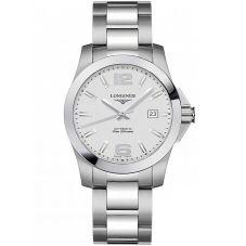 Longines Mens Conquest Silver Dial Bracelet Watch L36764766