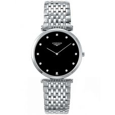 Longines Mens La Grande Classique Diamond Set Black Dial Bracelet Watch L47554586