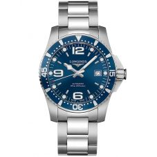 Longines Mens HydroConquest Automatic Blue Dial Bracelet Watch L37424966