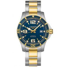Longines Mens HydroConquest Automatic Blue Dial Two Colour Bracelet Watch L36423967