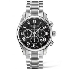 Longines Mens Master Black Chronograph Dial Bracelet Watch L28594516