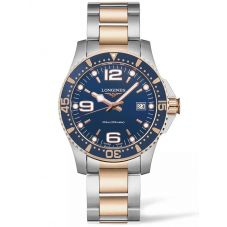 Longines Mens HydroConquest Quartz Blue Dial Two Colour Bracelet Watch L37403987