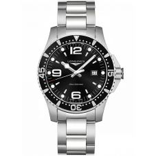 Longines Mens HydroConquest Quartz Black Dial Bracelet Watch L38404566