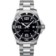 Longines Mens HydroConquest Quartz Black Dial Bracelet Watch L38414566