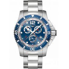 Longines Mens HydroConquest Quartz Chronograph Blue Dial Bracelet Watch L38434966