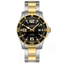 Longines Mens HydroConquest Automatic Black Dial Two Colour Bracelet Watch L37423567
