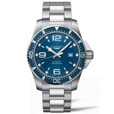 Longines Mens HydroConquest Automatic Blue Dial Bracelet Watch L38414966
