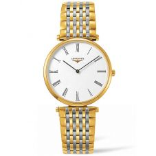 Longines Mens La Grande Classique White Dial Two Colour Bracelet Watch L47552117