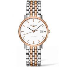 Longines Mens Elegant White Dial Two Colour Bracelet Watch L48105127