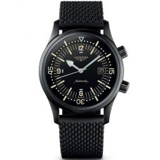 Longines Mens Legend Diver Black Rubber Strap Watch L37742509