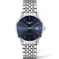 Longines Mens Elegant Blue Dial Bracelet Watch L49104926