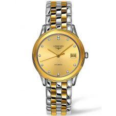 Longines Mens Flagship Diamond Set Bracelet Watch L47743377