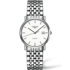 Longines Mens Elegant White Dial Bracelet Watch L48094126