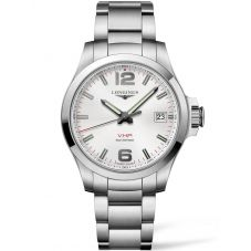 Longines Mens Conquest V.H.P Silver Dial Bracelet Watch L37164766