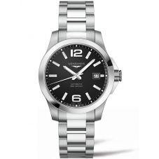 Longines Mens Conquest Black Bracelet Watch L37764586