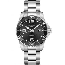 Longines Mens HydroConquest Automatic Black Dial Bracelet Watch L37814566