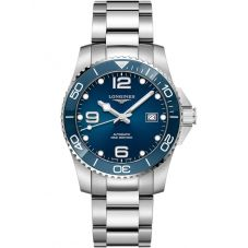 Longines Mens HydroConquest Automatic Blue Dial Bracelet Watch L37814966