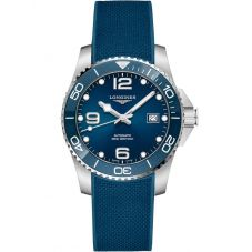 Longines Mens HydroConquest Automatic Blue Dial Rubber Strap Watch L37814969