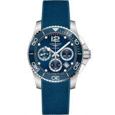 Longines Mens HydroConquest Automatic Chronograph Blue Rubber Strap Watch L37834969