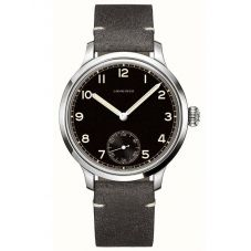 Longines Mens Heritage Military Automatic Grey Leather Strap Watch L28264532