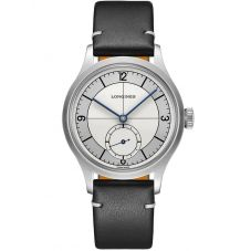 Longines Mens Heritage Classic Automatic Black Leather Strap Watch L28284730