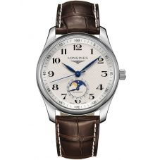 Longines Master Automatic Cream Dial Brown Leather Strap Watch L29094783