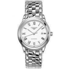 Longines Mens Flagship White Dial Bracelet Watch L49744116