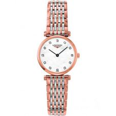 Longines Ladies La Grande Classique Diamond Set Mother Of Pearl Dial Two Colour Bracelet Watch L42091977