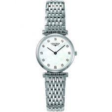 Longines Ladies La Grande Classique Diamond Set Mother Of Pearl Dial Bracelet Watch L42094876