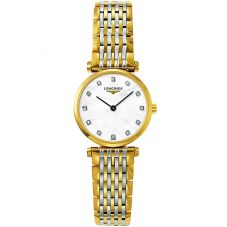 Longines Ladies La Grande Classique Diamond Set Mother of Pearl Dial Two Colour Bracelet Watch L42092877