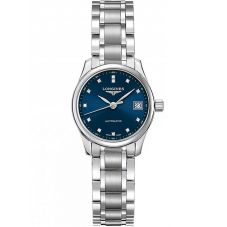 Longines Ladies Master Diamond Set Blue Dial Bracelet Watch L21284976