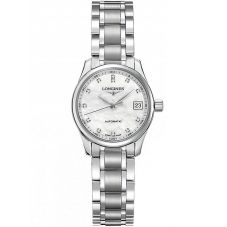 Longines Ladies Master Diamond Set Mother of Pearl Bracelet Watch L21284876